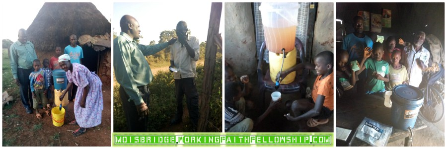 Gospel Tract Distribution GMFC Moisbridge Kenya Water Filters Sawyer
