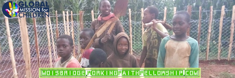 Blessed Children of Moi's Bridge Build Goat Fence in One Day Banner
