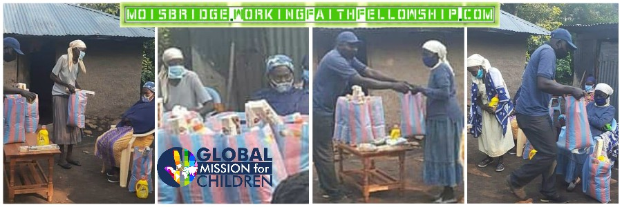 kolongolo kenya GMFC WFF fellowship widows Jesus banner collage