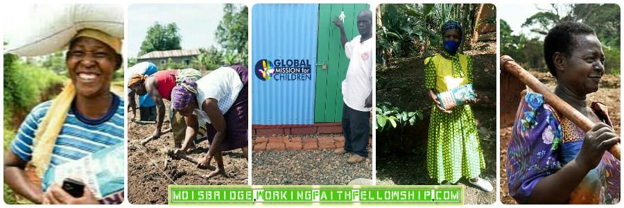 Working Faith Fellowship Brethren Building a latrine in Uganda Global Mission for Children bANNER