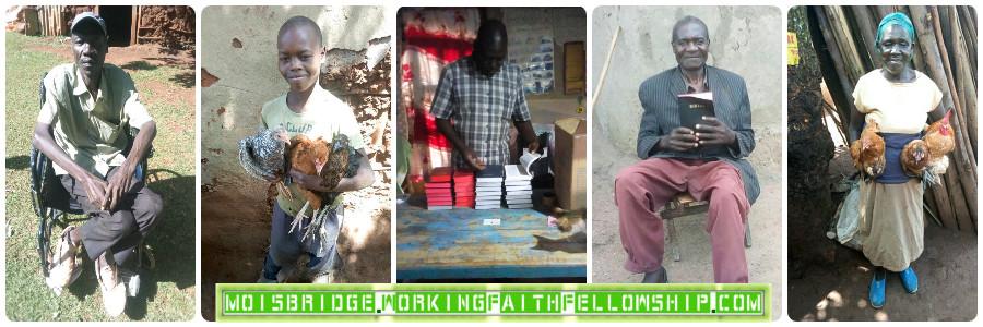 Widows Chickens Bibles Mois Bridge Rift Valley Kenya Banner